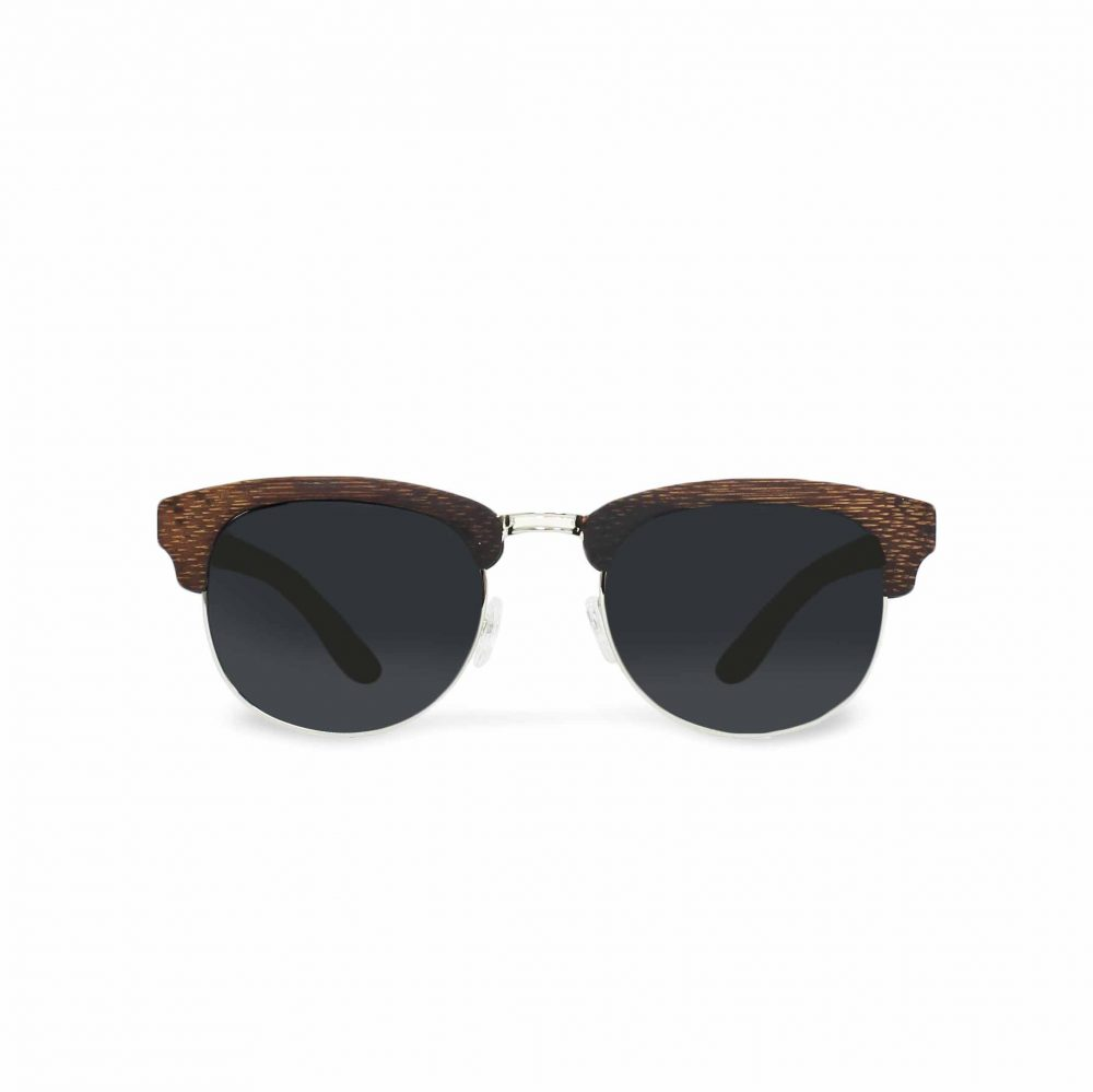 Clubmaster sonnenbrille aus holz