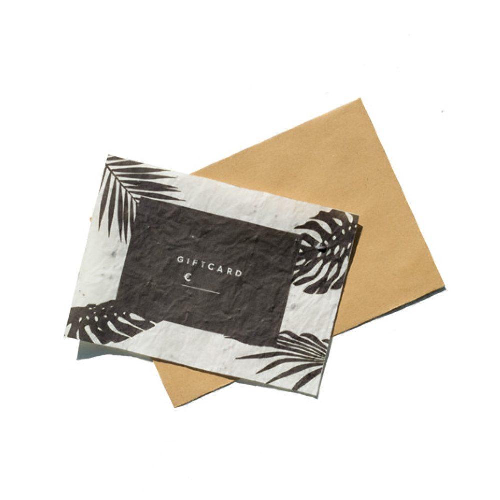 Einzigartige Geschenkkarte oder Gutschein. Pflanze die Karte in die Erde und es wachsen Blumen daraus