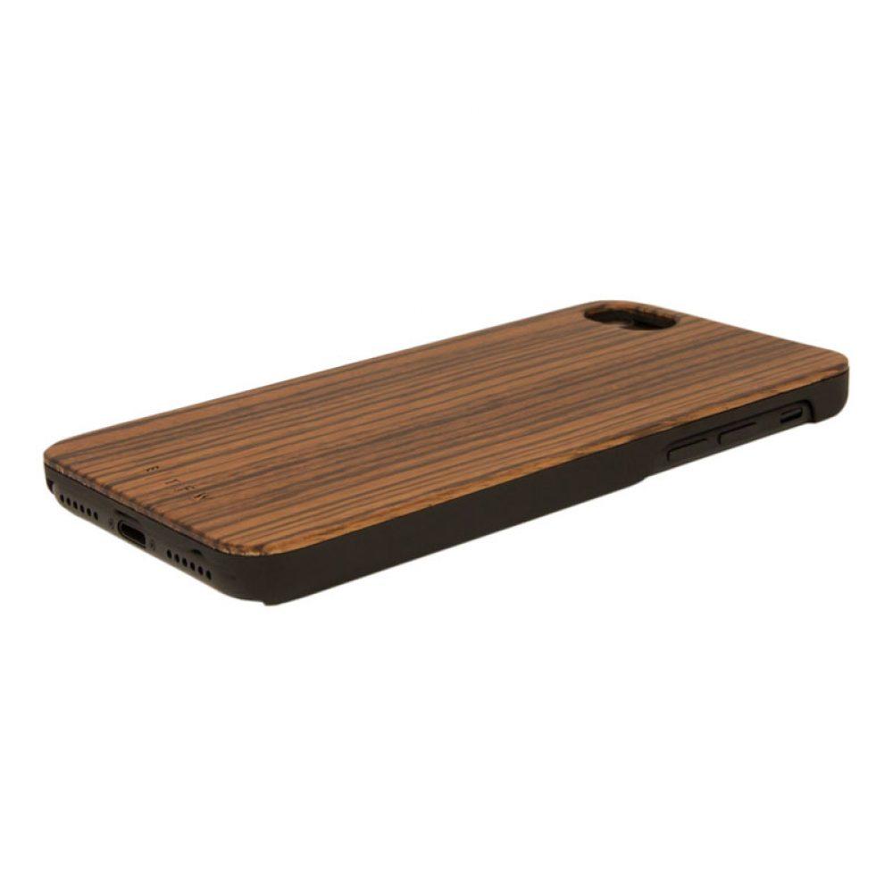 iPhone 7 Handyhülle aus Holz. Phone Case aus Zebraholz