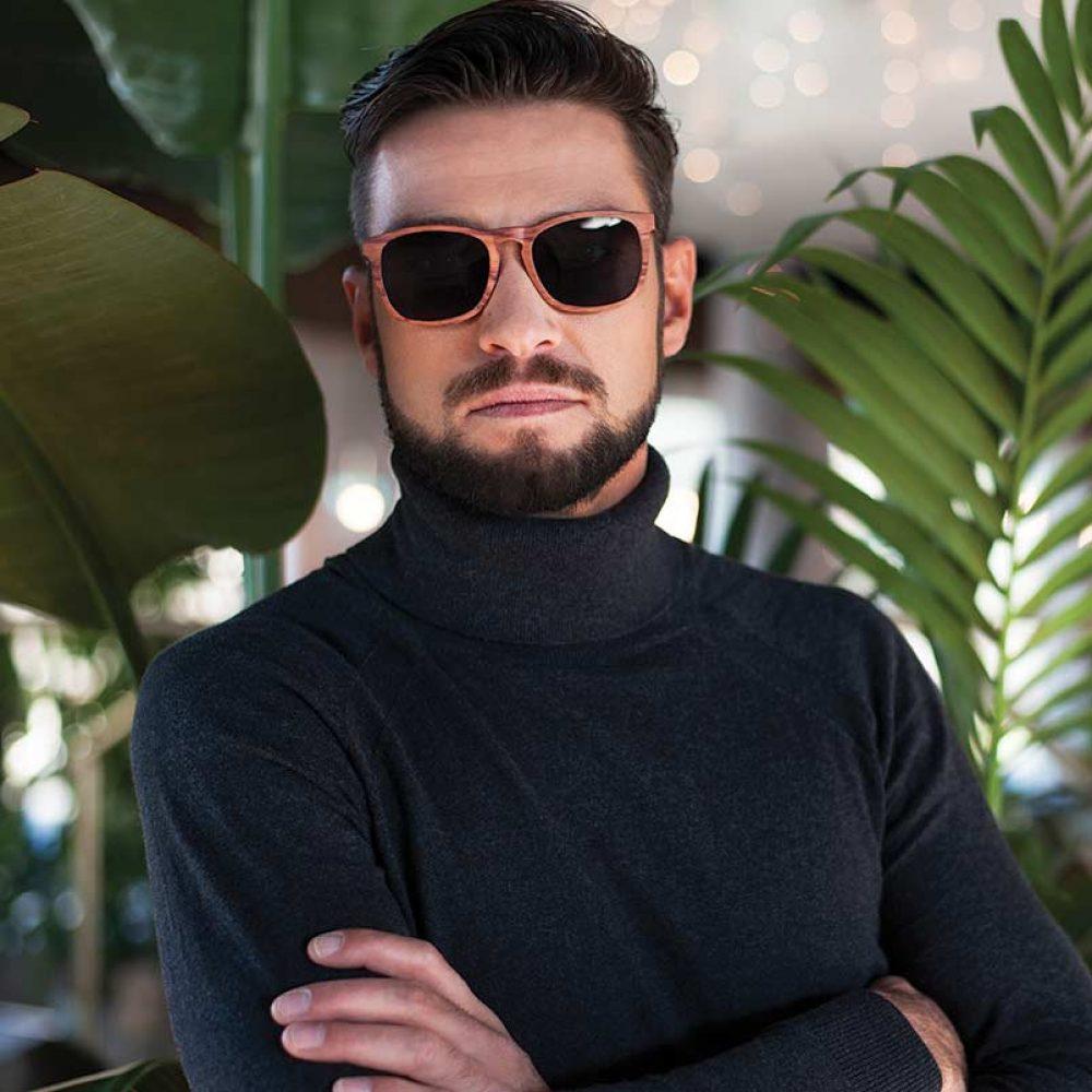 Ventus Sonnenbrille aus Holz Model