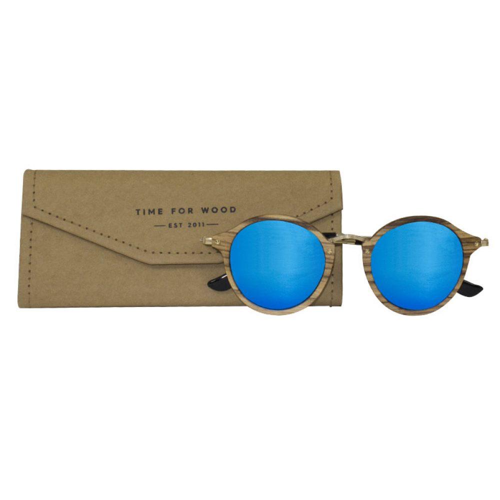 faltbares Brillenetui Schutzhülle gratis kostenlos zur neuen Sonnenbrille blau