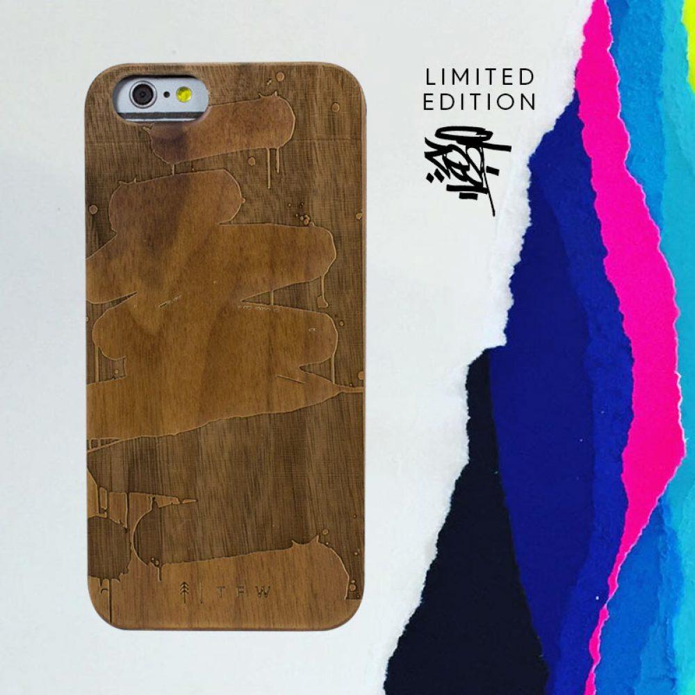 Smartphone case iPhone 6/6S aus Holz Collaboration
